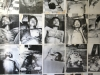 A board displaying pictures of victims imprisoned and tortured at S.21 or Tuol Sleng, a former school, during the Pol Pot regime. Their bodies were transported to the Killing Fields to be buried.
