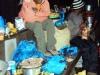 Cooks dishing up dinner at Mandara