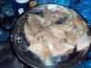 marinated fish ready to be cooked at Mandara Hut
