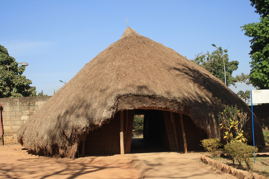 Entrance to Kasubi Tombs