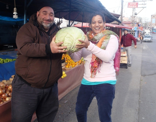 Giant cabbage in Trabzon