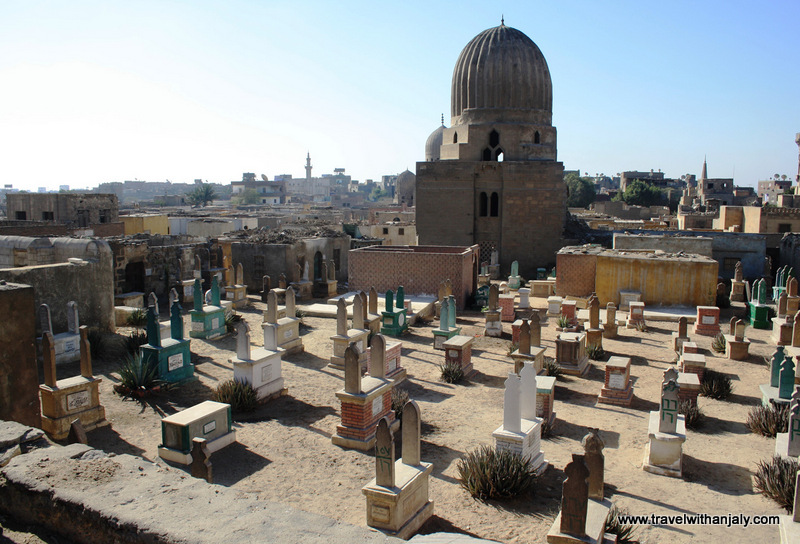 View of the city of the dead housing over 50 000 of the poorest