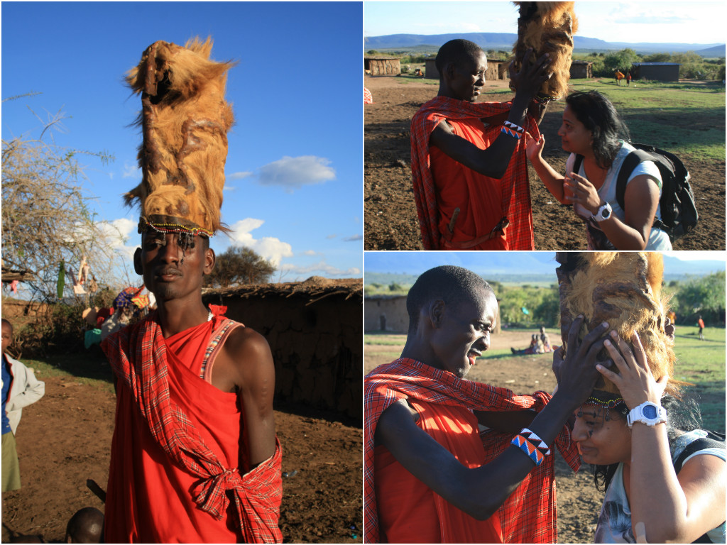 Lion head in Masai Village