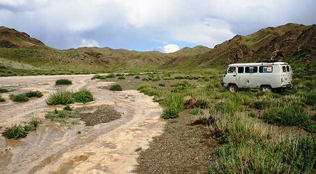 flash flood in the gobi desert