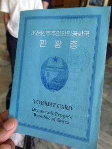 north korea tourist card