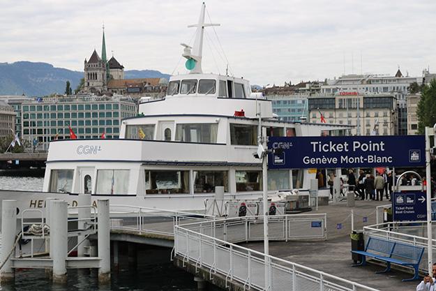 ferry boarding geneva