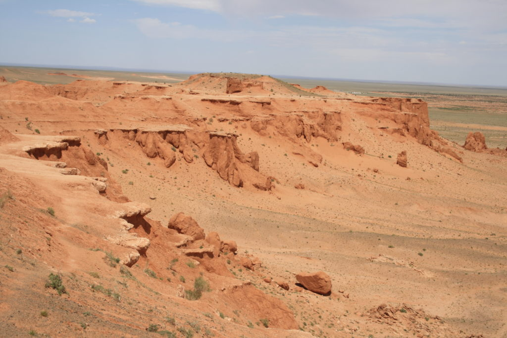 flaming cliffs of gobi