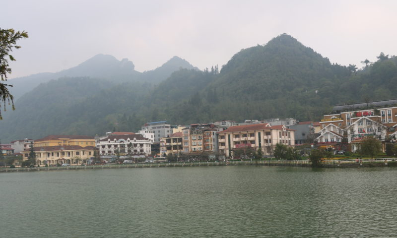 the town of sapa is set around a lake