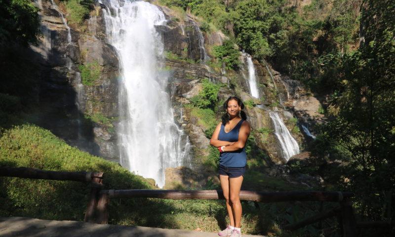 wachiratan waterfall in Doi Inthenon
