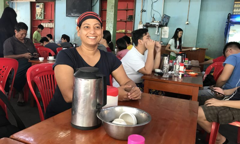 Tea drinking in Myanmar