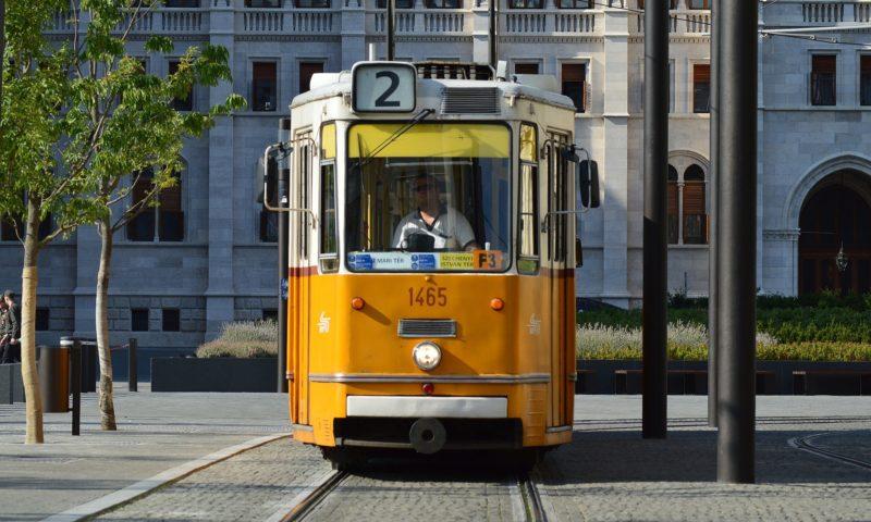 budapest yellow tram